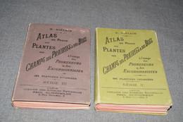 2 Ouvrages Atlas De Poche Des Plantes,R.Siélain,série II Et III,1906-1907 + Herbier D'époque,16 Cm. Sur 11,5 Cm. - Livres, BD, Revues