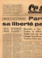 """Journal  """" CE  SOIR """" Grand Quotidien  D'information Indépendant - Paris Conquiert Sa Liberté Par Les Armes - 23 Aout 44 - Autres"""