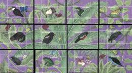 SURINAME 2018 **MNH Birds Vögel Oiseaux Frogs Butterflies Monkeys 12S/S - OFFICIAL ISSUE - DH1901 - Pájaros