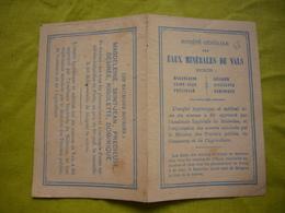 Pub Sté Générale Des Eaux Minérales De Vals - Publicités