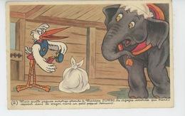 WALT DISNEY - MICKEY MOUSE - Jolie Carte Fantaisie De L'éléphant DUMBO - N° 2 - Disney