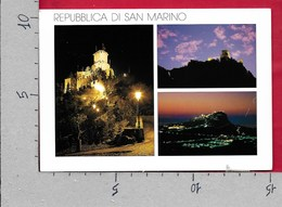 CARTOLINA VG SAN MARINO - Vedutine Multivue Notturno - 10 X 15 - ANN. 1997 - San Marino