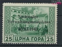 Montenegro (Dt.Bes.2.WK.) 10 Mit Falz 1943 Aufdruckausgabe (9265107 - Besetzungen 1938-45