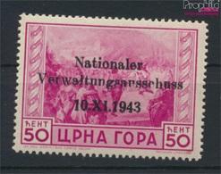 Montenegro (Dt.Bes.2.WK.) 11 Mit Falz 1943 Aufdruckausgabe (9265106 - Besetzungen 1938-45