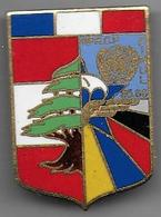 1er R C P - FINUL 85 - 86  - Insigne émaillé Drago Matriculé 996 - Armée De Terre