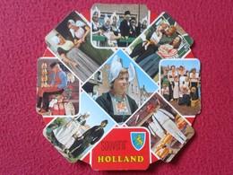 POSTAL POST CARD CARTE POSTALE TROQUELADA HOLANDA HOLLAND PAISES BAJOS NETHERLANDS PAYS BAS SOUVENIR VER FOTOS TRAJES... - Holanda