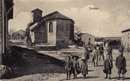 CPA Aout 1914 DALHAIN (Dalheim) - L'église, Enfants, 12 Rgt Bav. Feld. Artillerie (A205, Ww1, Wk 1) - Autres Communes