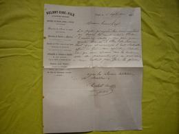 Facture 1884 Ganges Delort Ciré & Fils  Manches De Pioche Tuteurs Piquets ... - France