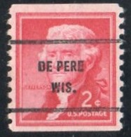 """USA Precancel Vorausentwertung Preo, Locals """"DE PERE"""" (WIS). Roulette. - United States"""