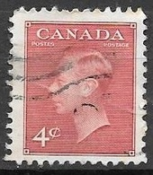 1949 King George VI, 4 Cents, Used - Used Stamps
