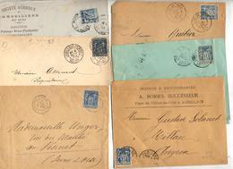 6 Lettres Cachet Sur Sage à Voir - Marcophilie (Lettres)