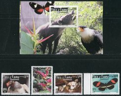 "GUATEMALA  2005  MNH  - "" FAUNE : OISEAUX / BIRDS  ETC. ""  -  4 VAL + 1 BLOC - Uccelli"