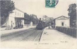 Cpa 13 – Saint-Chamas – La Gare ( Train ) - France