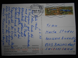 Afrique Du Sud Carte De Port Elizabeth 2002 Pour Bassersdorf - Afrique Du Sud (1961-...)