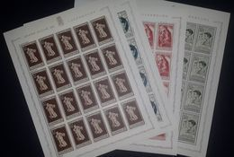 Luxembourg Luxemburg Mi.395/98 Complete Set In Sheets Of 20 Postfrisch / MNH / ** 1945 Caritas - Full Sheets