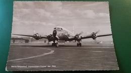 CPSM AVION AEROPORT BERLIN TEMPELHOF TRANSOCEAN CLIPPER DER PAA - 1946-....: Ere Moderne