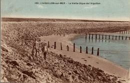 CPA L'Aiguillon-sur-Mer La Vieille Digue De L'Aiguillon - Autres Communes