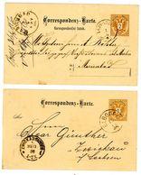 P 61 + P 62 Correspondenz-Karten Nach Deutschland - Ganzsachen