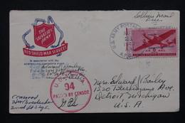 ETATS UNIS - Enveloppe Miltaire Pour Detroit En 1942 Avec Cachet De Censure - L 21550 - Marcophilie