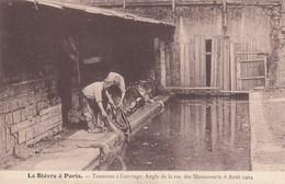 La Bièvre à Paris - Tanneurs à L'ouvrage Angle De La Rue Des Marmousets 6 Août 1904 - Parfait état - France