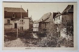 Cpa Gramat, Lot, (46), Vieilles Maisons Sur L'Alzou, Collection Astruit - Gramat