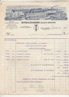 Allemagne Facture Illustrée 20/1/1922 JETTER & SCHEERER Fabrique Instruments De Chirurgie TUTTLINGEN - Deutschland