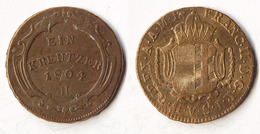 Österreich Austria 1 Kreuzer 1804 H FRANZ II. Haus Habsburg RDR (p872 - Oesterreich