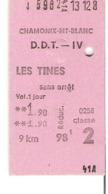 SNCF Train    Chamonix Mont Blanc - Les Tines - Chemins De Fer