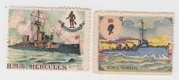 HMS HERCULES + NUBIAN - Erinnophilie