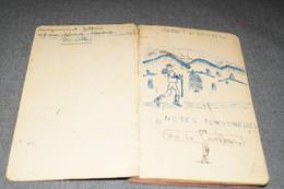 Original Carnet De Route Manuscrit Avec Dessins Originaux,scoutisme Bruxelles 1944, 100 Pages,16,5 Cm./11 Cm. - Scouting