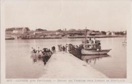 Cpa GAVRES Près Port Louis - Départ Des Vedettes Pour LORIENT Et PORT LOUIS - Port Louis