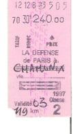 SNCF Train    La Défense De Paris à Chamonix - Chemins De Fer