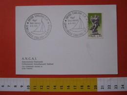 A.06 ITALIA ANNULLO - 1976 CAGLIARI VELA SPORT GEMELLAGGIO CON MOLFETTA BARI - Vela