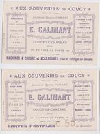 """Coucy-le-Château (Aisne) - """"Aux Souvenirs De Coucy"""" Publicité Galimant - Lot De 2 Cpa - France"""