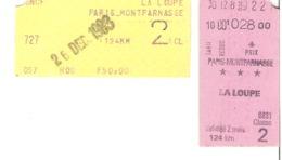 SNCF Train   Paris Montparnasse    La Loupe  1983 - Chemins De Fer