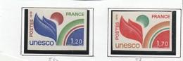 France Timbre  De Service Non Dentelé Série 56 Et 57 Ans Charnière ** - Francia