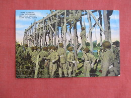 Rope Climbing Tank Destroyer Obstacle Course  Camp Hood Texas --ref 3137 - War 1939-45