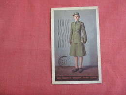Canadian Womens Army Corps 1944 APO Cancel  As Is Crease -ref 3137 - Militaria