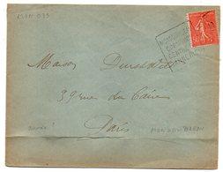 """Env 1925--Lettre De MONDOUBLEAU CORMENON-41 Pour PARIS-75--cachet Daguin""""CORMENON,Centre Tanneries""""-Type Semeuse - 1921-1960: Modern Period"""