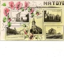 NATOYE - Multivue: Café De La Place; Eglise; Château; Gare; Coin De Skeuvre. Photo Gevaert. - Hamois