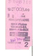 SNCF Train Paris Saint Lazare Issy Versailles Marly Le Roi - Chemins De Fer