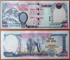 Nepal 1000 Rupees 2010 AUNC/UNC P-68b - Nepal