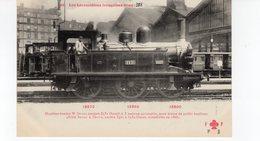 Les Locomotives (Etat)  Machine N°3531 Pour Trains De Petite Banlieue Construite En 1888. - Trains