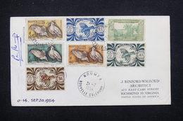 NOUVELLE CALÉDONIE - Enveloppe De Nouméa Pour Les Etats Unis En 1954 , Affranchissement Recto Et Verso - L 21571 - Nueva Caledonia