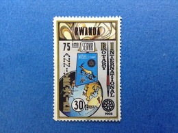 1980 RWANDA ROTARY INTERNATIONAL 30 C FRANCOBOLLO NUOVO SENZA GOMMA - 1962-69: Nuovi