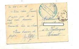 Carte Fez Dieded  Franchise Militaire Cachet Poste Aux Armees Taza + Gaharmoumou , - Marcophilie (Lettres)