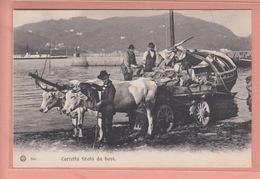 OLD  POSTCARD    - ITALY - LAGO DI COMO - ANIMATED - CARRETTA TIRATA DA BOVI - Como