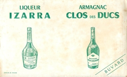 Buvard Ancien LIQUEUR IZARRA - ARMAGNAC CLOS DES DUCS - Liqueur & Bière