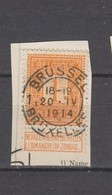 COB 108 Oblitéré BRUXELLES 1 - 1912 Pellens