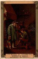 CHROMO MOKA LEROUX  MUSEE DU LOUVRE  INTERIEUR DE TABAGIE  ECOLE HOLLANDAISE DAVIS TENIERS LE JEUNE - Chromos